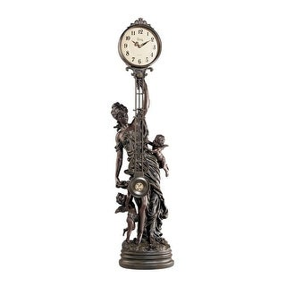Design Toscano Grande-Scale Flora Sculptural Swinging Pendulum Clock