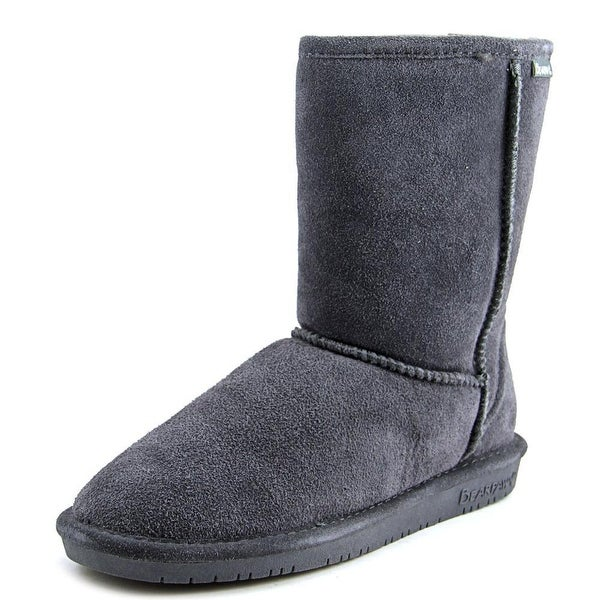 Bearpaw Emma Short Women Round Toe Suede Gray Winter Boot