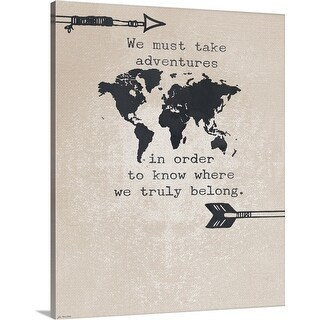 """Adventures"" Canvas Wall Art"