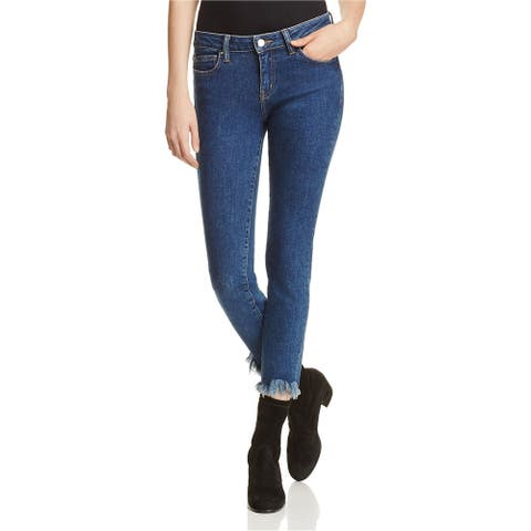 IRO Womens Frayed Cropped Jeans, Blue, 24