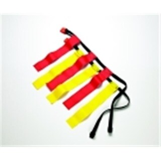 Sportime Small Flag Football Belts - Set 12, Red & Yellow