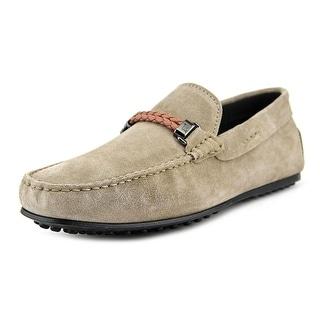 Tod's Morsetto Selleria City Gommino Men Square Toe Leather Gray Loafer