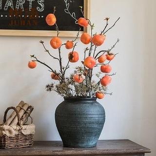 "RusticReach Artificial Persimmon Fruit Stem 43"" Tall"