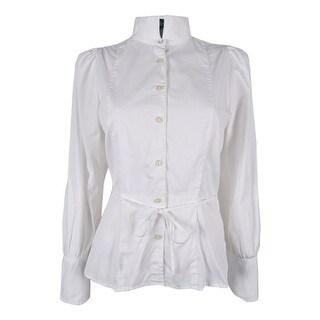 Ralph Lauren Women's Long Sleeve Poplin Top - White - 4
