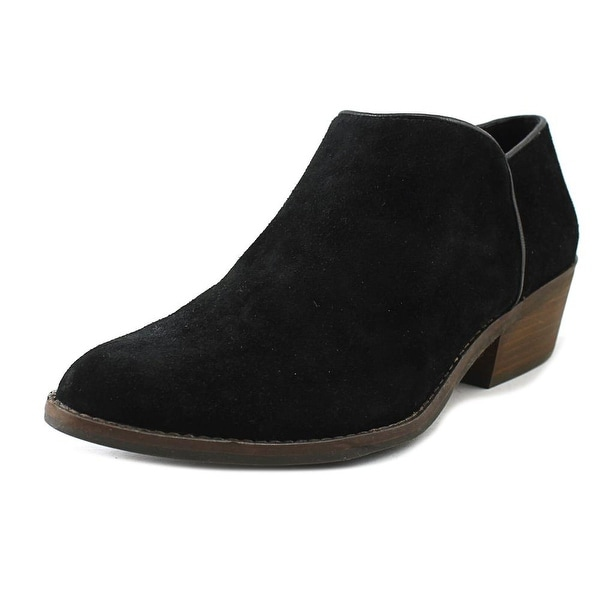 Lucky Brand Faithly Women Round Toe Suede Black Bootie
