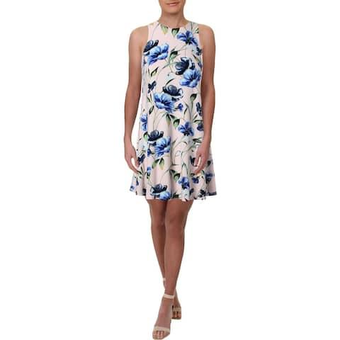 Lauren Ralph Lauren Womens Petites Party Dress Sleeveless Floral Print