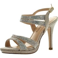 De Blossom Womens Marcie-33 Dressy Party Heels Sandals