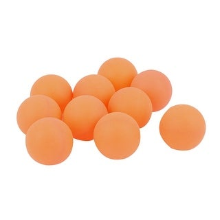 Unique Bargains 10Pcs Recreational Leisure Table Tennis Ping Pong Balls Yellow