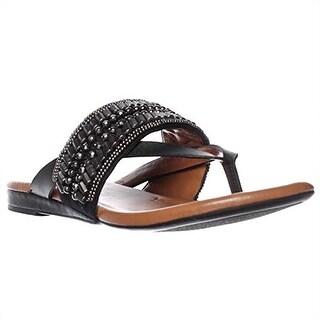Arturo Chiang Lyra Flip Flop Sandals - Black