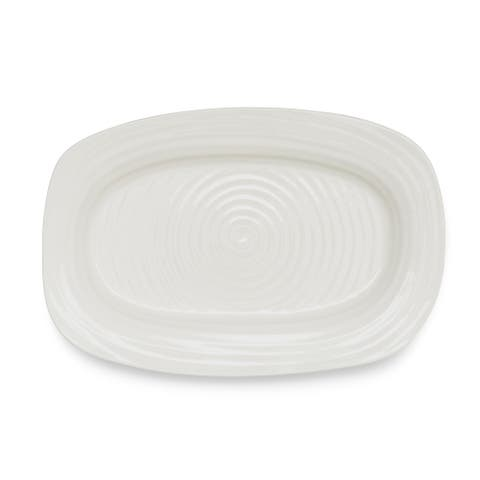Portmeirion Sophie Conran Sandwich Tray - White - 13.5 inch x 9 inch