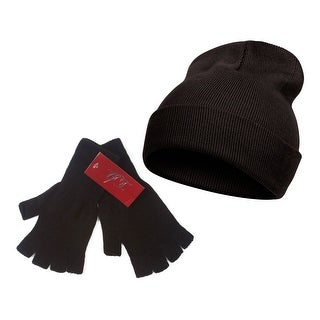 TopHeadwear Long Beanie and Fingerless Glove Combo Set - One size