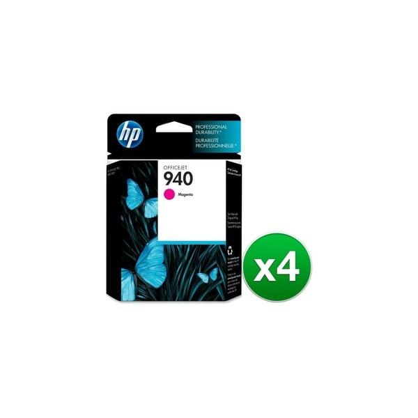 HP 940 Magenta Original Ink Cartridge (C4904AN) (4-Pack)