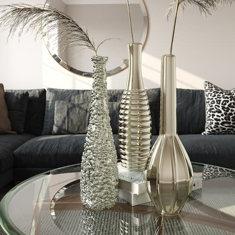 Tianna Silver Vases (Set of 3)