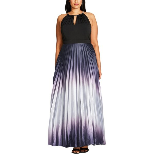 b0755c5db11 Shop City Chic Womens Plus Silver Siren Maxi Dress Metallic Pleated - On  Sale - Free Shipping On Orders Over  45 - Overstock - 18729739