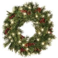 "Celebrations HYD-4K17BC30TRY Prelit Cordless LED Ornamental Wreath, 30"" Dia."