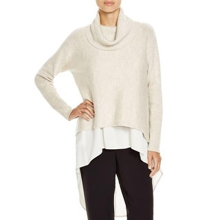 Eileen Fisher Womens Turtleneck Sweater Wool Box Top