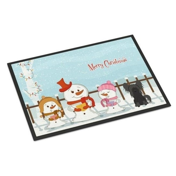 Carolines Treasures BB2443MAT Merry Christmas Carolers Chinese Crested Black Indoor or Outdoor Mat 18 x 0.25 x 27 in.