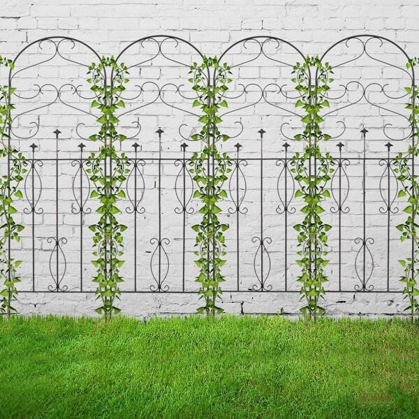 4 Pack Rustproof Iron Garden Trellis for Potted Plants Lattice. Opens flyout.