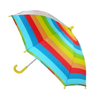 CTM® Kids' Stripe Print Stick Umbrella with Single Clear Panel