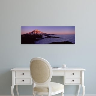 Easy Art Prints Panoramic Image 'Sea of clouds with mountains, Mt Rainier, Pierce County, Washington State' Canvas Art