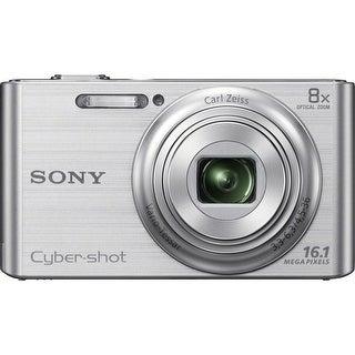 Sony Cyber Shot DSC-W730 16.1MP Silver Digital Camera 8GB Bundle