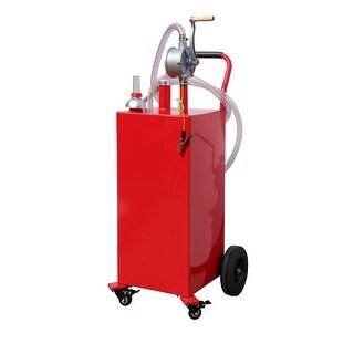 Arksen 35-Gallon Gas Caddy Fuel Tank Portable Storage Transfer Gasoline w/ Pump 35-Gallons Capacity