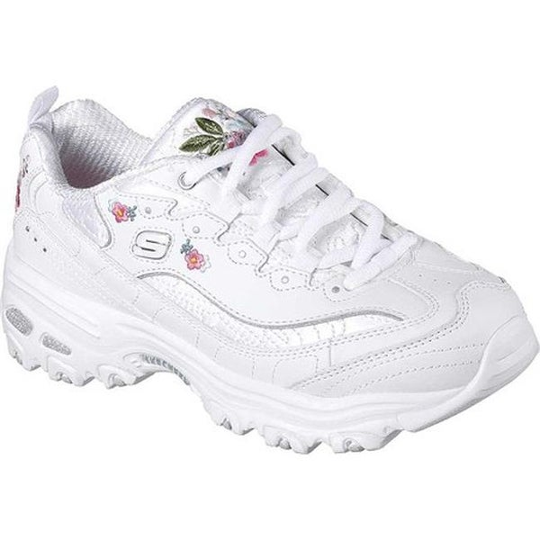 7d8b32d5ade0 Shop Skechers Women s D Lites Bright Blossoms Sneaker White - On ...