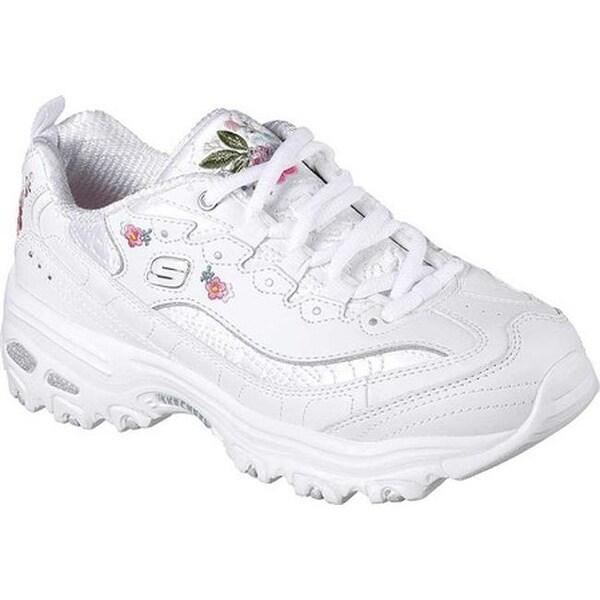 Shop Skechers Women's D'Lites Bright Blossoms Sneaker White