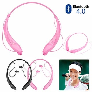 Bluetooth Wireless Headset Stereo Headphone Earphone Sport Handfree Universal,color Pink