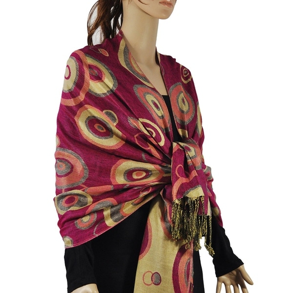 Women's Multi-Circle Woven Pashmina Shawl Wrap Scarf