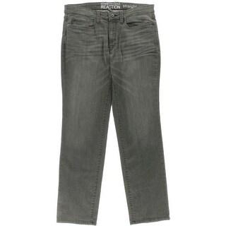 Kenneth Cole Reaction Mens Straight Leg Jeans Denim Stretch