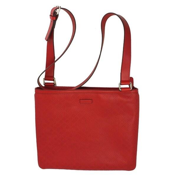 f4dfab2f0aa5a Gucci Men  x27 s Red Leather Medium Diamante Cross Body Shoulder Bag 201446  6523