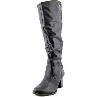 White Mountain Inbound Women  Round Toe Synthetic Black Knee High Boot