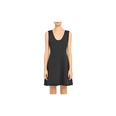 THEORY Womens Black Sleeveless Short Sheath Evening Dress Size 2