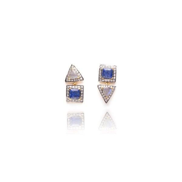 Free Spirit Earrings in Blue