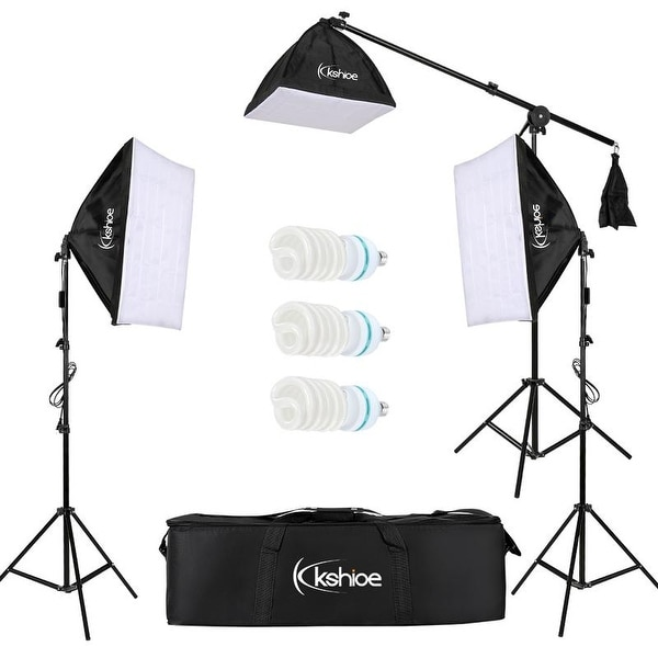 Kshioe 65W/135W Photo Studio Photography Lighting Kit Diffuser. Opens flyout.