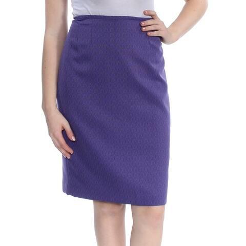 LE SUIT Womens Purple Below The Knee Wear to Work Skirt Size 8
