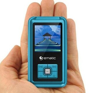 Ematic Em208vidbu 8Gb Mp3/Video Player  Blue