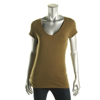 Energie Womens Juniors Cotton V-Neck Pullover Top
