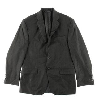 Calvin Klein Mens Wool Slim Fit Two-Button Suit Jacket