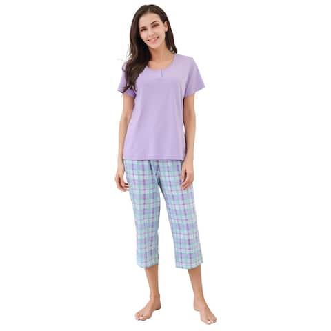Richie House Pajamas Women Cotton Shirt - PJ Sets for Women, T-Shirt Top