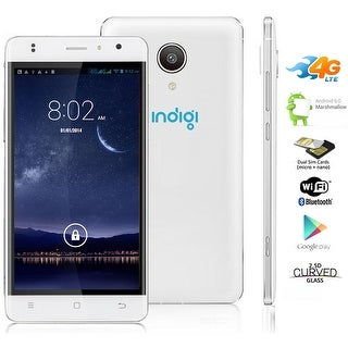 "Indigi 5.0"" IPS Capacitive Android 6.0 DualSim 4G Support Smart Cell Phone GSM UNLOCKED - White"