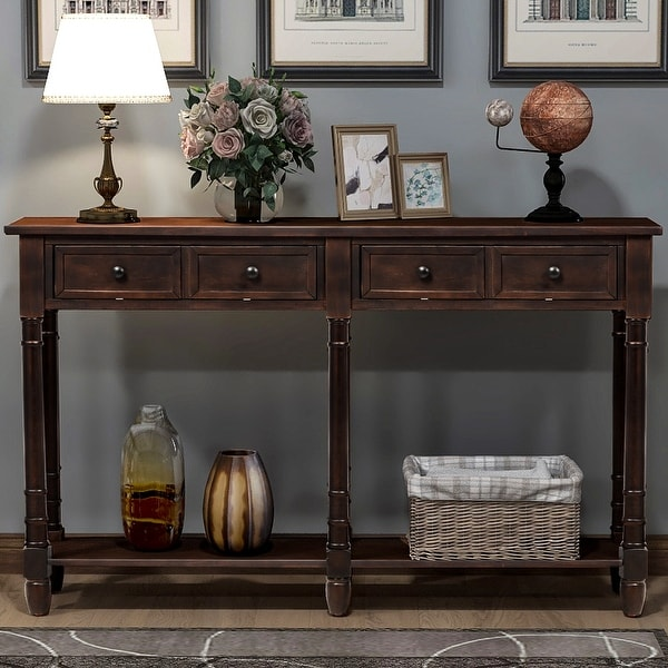 Copper Grove Barregarrow 2-drawer Console Table and Bottom Shelf. Opens flyout.