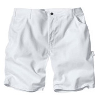 """Dickies DX400WH 38 Men's Painter's Shorts, 38"""", White"""