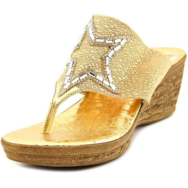 Love and Liberty Star Women Gold Sandals