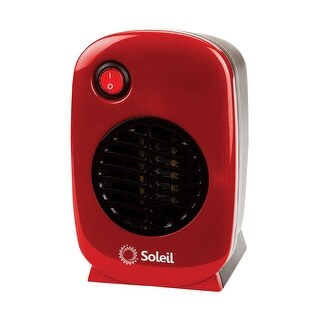 Soleil MH-01 Electric Portable Heater, Red, 250 Watts