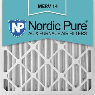Nordic Pure 20x25x4 Pleated MERV 14 AC Furnace Air Filters Qty 6