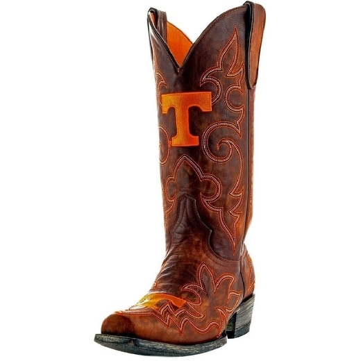 Gameday Boots Mens College Team Tennessee Volunteers Brass