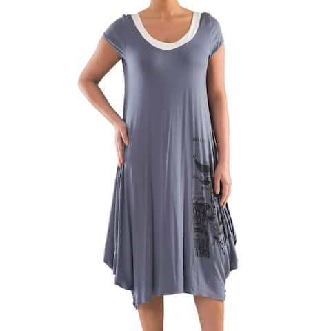 Tulip Dress with Print - Sizes 14, 16, 18 & 20 - Plus Size Clothing - La Mouette Collection