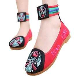 Women fashion Casual Shoes BalletCloth Embroidered Shoes Facial Makeup